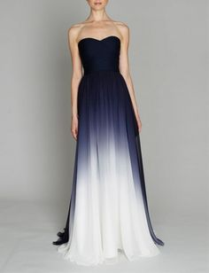 Stunning Dresses from Monique Lhuillier - I need an event to wear this to…LOVE! Navy Ombre Dress by Monique Lhuillier from The Sweetest Occasion Source by frierkatz - Bridesmaid Dresses, Prom Dresses, Formal Dresses, Wedding Dresses, Bridesmaids, Dress Prom, Blue Dresses, Dresses 2013, Long Dresses