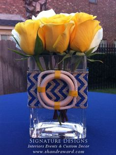 Nautical Baby Shower  - centerpiece design