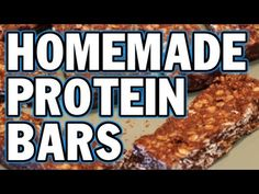 The Best & Easiest Homemade Chocolate Peanut Butter Protein Bars - YouTube