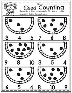 Preschool Counting Worksheets for Summer Preschool Counting Worksheets for Summer The post Preschool Counting Worksheets for Summer appeared first on Pink Unicorn. Summer Preschool Activities, Preschool Learning Activities, Preschool Math, Kindergarten Math Worksheets, Worksheets For Preschoolers, Worksheets For Playgroup, Number Worksheets, Numbers Preschool, Math For Kids