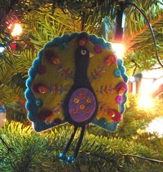 PEACOCK~ ORNAMENT