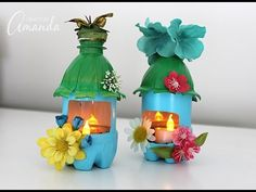 Plastic Bottle Fairy House Night Lights