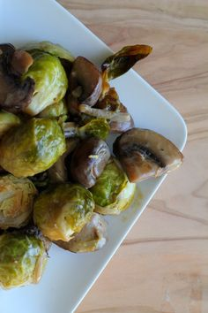 Roasted Brussels Sprouts with Wild Mushrooms andCream - The Garden of Eden - The Garden of Eden