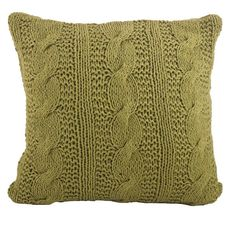 Saro Cable Knit Design Throw Pillow (€41) ❤ liked on Polyvore featuring home, home decor, throw pillows, cable knit throw pillow, square throw pillows, cotton throw pillows, cream throw pillows and ivory throw pillows