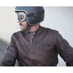 Vintage Brooks Motorcycle Cafe Racer. #MotorcycleJacket #Perfecto #Fashion #DoubleRider #CafeRacer At Eagle Ages we love Motorcycle Jacket. You can find a great choice of  Vintage & Second hands Motorcycle Jacket in our store.  At https://eagleages.com/coats-jackets/men-coats-jackets/motorcycle-jackets.html