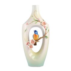Franz Porcelain The Golden Years - Plum Blossom & Vivid Niltava Vase