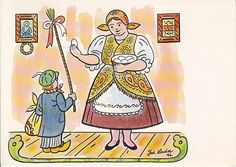 Josef Lada is tightly connected to the Czech Easter traditions as he painted some of the most favorite Easter postcards we have here in the. About Easter, Easter Traditions, Believe In God, The Kingdom Of God, Four Seasons, Czech Republic, Happy Easter, Easter Eggs, Illustrators