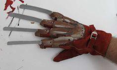 The completed Freddie Krueger Glove d.i.y