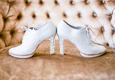 DIY sparkly oxford heels