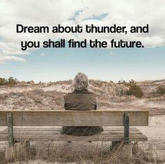 inspirobot // dream about thunder