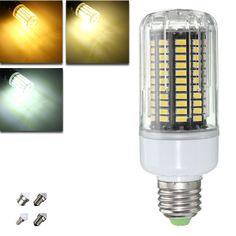 E27 E14 E12E E17 B22 15W 130 SMD 5736 LED Pure White Warm White Cover Corn Bulb AC85-265V