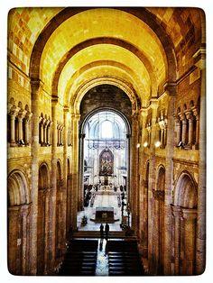 Sé catedral de Lisboa, nave central e ábside