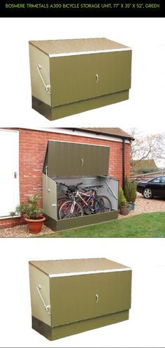 """Bosmere Trimetals A300 Bicycle Storage Unit, 77"""" x 35"""" x 52"""", Green #fpv #racing #storage #kit #technology #gadgets #locker #lock #products #drone #parts #plans #camera #tech #shopping"""