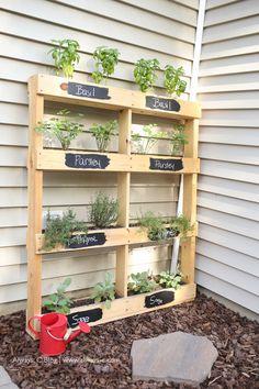 Pallet Herb Garden DIY   The Pink Lemonade Blog