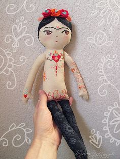 :: Crafty :: Cloth Doll :: 2 :: frida | by merwing✿little dear