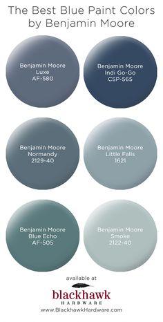 Our Favorite Blue Bedroom Paint Colors by Benjamin Moore – Blackhawk Hardware Best Blue Paint Colors, Paint Colors For Home, Blue Grey Paint Color, House Paint Colours, Paint Colors For Basement, Bathroom Paint Colours, Paint Colours For Bedrooms, Living Room Paint Colors, Basement Color Schemes