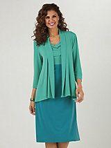 9aba742e99268 Beautifully draped jacket dress from Signature Collection by Vicki Wayne®