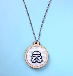 Necklace imperial stomper star wars cross by SandraandStitch