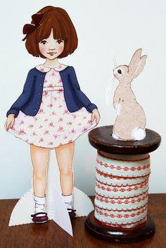 Vintage inspired dress up doll