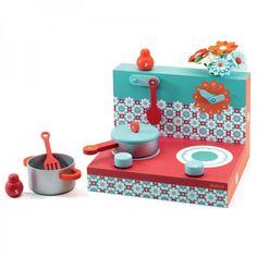 Djeco Red Kitchen Set  at alexandalexa.com