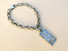"Handmade Artisan Soldered Silver Chain Firefly Inspired Bracelet With Charm ""You Can't Take the Sky From Me"" --FUNDRAISER ITEM by OurBoySam on Etsy"