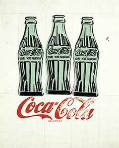Andy Warhol Three Coke bottles (1962) Style: Pop Art