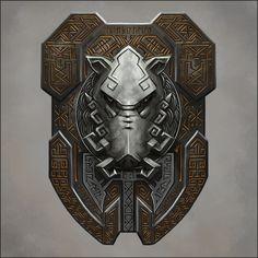 Dwarven Boar Shield by Seraph777.deviantart.com on @DeviantArt