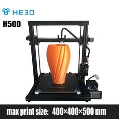HE3D new DIY 3D printer H500,400*400*500 printing size,end stop filament ,sub area heating,full color touch screen