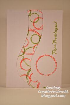 Gerrina's Creatieve Wereld: Kerstcirkels / Christmascirckles