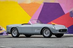 Auction house Gooding & Company will be bringing the heat to Pebble Beach this year, offering up a 1958 Ferrari 250 GT LWB California Spider in exquisite Ferrari, Lamborghini, Mustang 1967, Ford Mustang, American Muscle Cars, Best Muscle Cars, Rolls Royce, Aston Martin, Bugatti