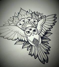 mandala-owl by Gummybearbubble89.deviantart.com on @DeviantArt