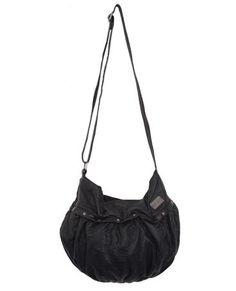 BROKEN BONES SHOULDER BAG // black -  Slouchy shoulder bag with subtle studded hardwear and fun tassel trim.