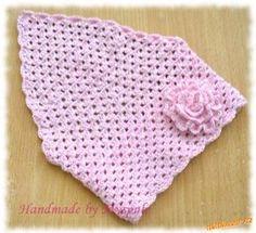 Háčkovaný čepičko – šátek pro culíkaté holky