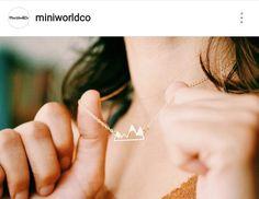 Collier Montagnes. Mountain Necklace @miniworldco