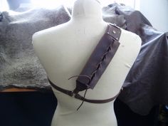 Leather back scabbard for latex sword. $55.00, via Etsy.