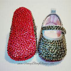On hold for Andrea Crystallized \u0026quot;Red Bottoms\u0026quot; Baby Shoes-Size 0 ...