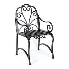 Black Metal Scroll Patio Chair | Kirkland's
