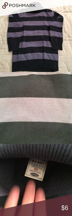 Old Navy Purple Striped turtleneck Gently used striped turtleneck from old navy! Size XS Old Navy Sweaters