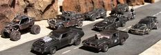 Mad Max styled toy cars.