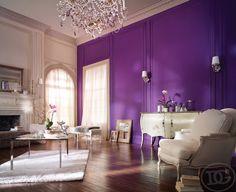 фиолетовый в интерьере - Поиск в Google