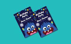 Monster Ank Birthday Invitation Corporate Identity, Print Templates, Birthday Invitations, Card Templates Printable, Branding, Anniversary Party Invitations, Visual Identity
