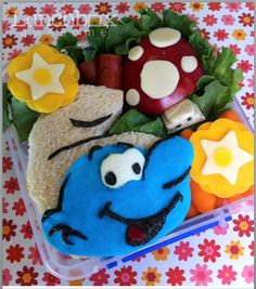 In addition to this Smurf bento, this RocketNews24 page has pictures of many others, including Muppets.