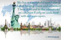 Travel around the world and see more in one trip. Whatever you are traveling get it for less!!! Book #DomesticflightinIndia at :http://bit.ly/1GsBCMJ