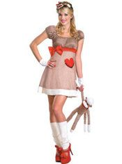 Adult Sock Monkey Costume Deluxe, $39.99