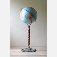 Globe With Wood Stand now featured on Fab.