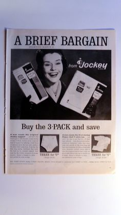 Items similar to 1962 Jockey Briefs Underwear Ad - (She s very happy about  Men s Jockey Support) - Vintage Print Advertisement on Etsy 4b71707fdde72