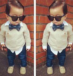 #Toddler swag #fashion #bowtie