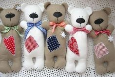 Fabric Toys, Fabric Crafts, Sewing Crafts, Sewing Projects, Sewing Stuffed Animals, Stuffed Toys Patterns, Felt Keyring, Tilda Toy, Sock Dolls