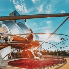 The Pritzker Pavilion in Millennium Park (Chicago Pin of the Day, 8/27/2015).
