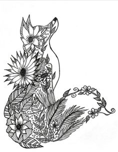 Fox Adult Coloring Page                                                                                                                                                      More